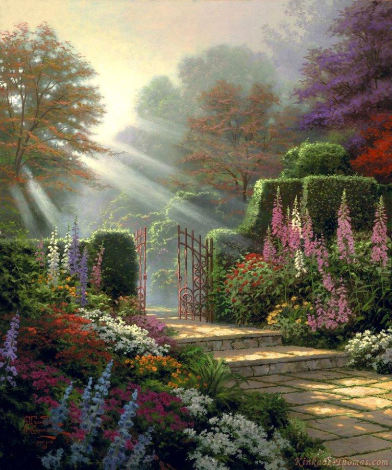Garden Of Art: Thomas Kinkade Garden Of Grace Painting