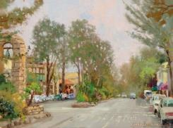 Carmel, Ocean Avenue II by Thomas Kinkade