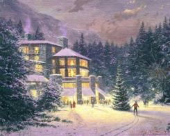 Christmas at The Ahwahnee by Thomas Kinkade