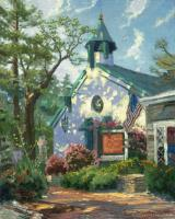 Church of The Wayfarer by Thomas Kinkade