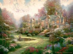Gardens Beyond Spring Gate by Thomas Kinkade