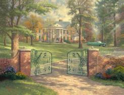 Graceland 50th Anniversary by Thomas Kinkade