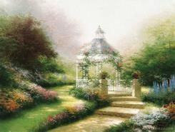 Hidden Gazebo by Thomas Kinkade