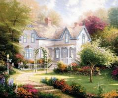 Home Is Where The Heart Is Ii by Thomas Kinkade