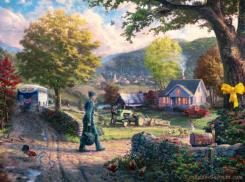 Homecoming Hero by Thomas Kinkade