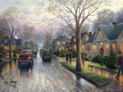 Hometown Christmas by Thomas Kinkade