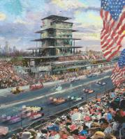Indianapolis Motor Speedway, 100th Anniversary Study by Thomas Kinkade