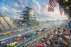 Indy Excitement, 100 Years of Racing Atindianapolis Motor Speedway by Thomas Kinkade