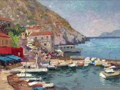 Island Afternoon, Greece by Thomas Kinkade