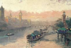 London at Sunset by Thomas Kinkade