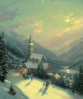 Moonlit Village by Thomas Kinkade