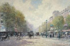 Morning on The Boulevard by Thomas Kinkade