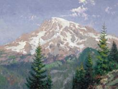 Mount Rainier by Thomas Kinkade