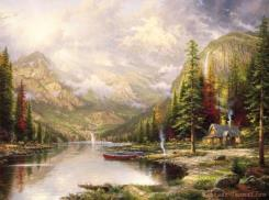 Mountain Majesty by Thomas Kinkade