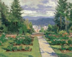 Rose Garden, Portland by Thomas Kinkade