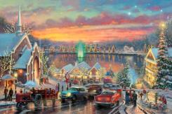 The Lights of Christmastown by Thomas Kinkade