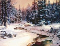 Winter's End by Thomas Kinkade